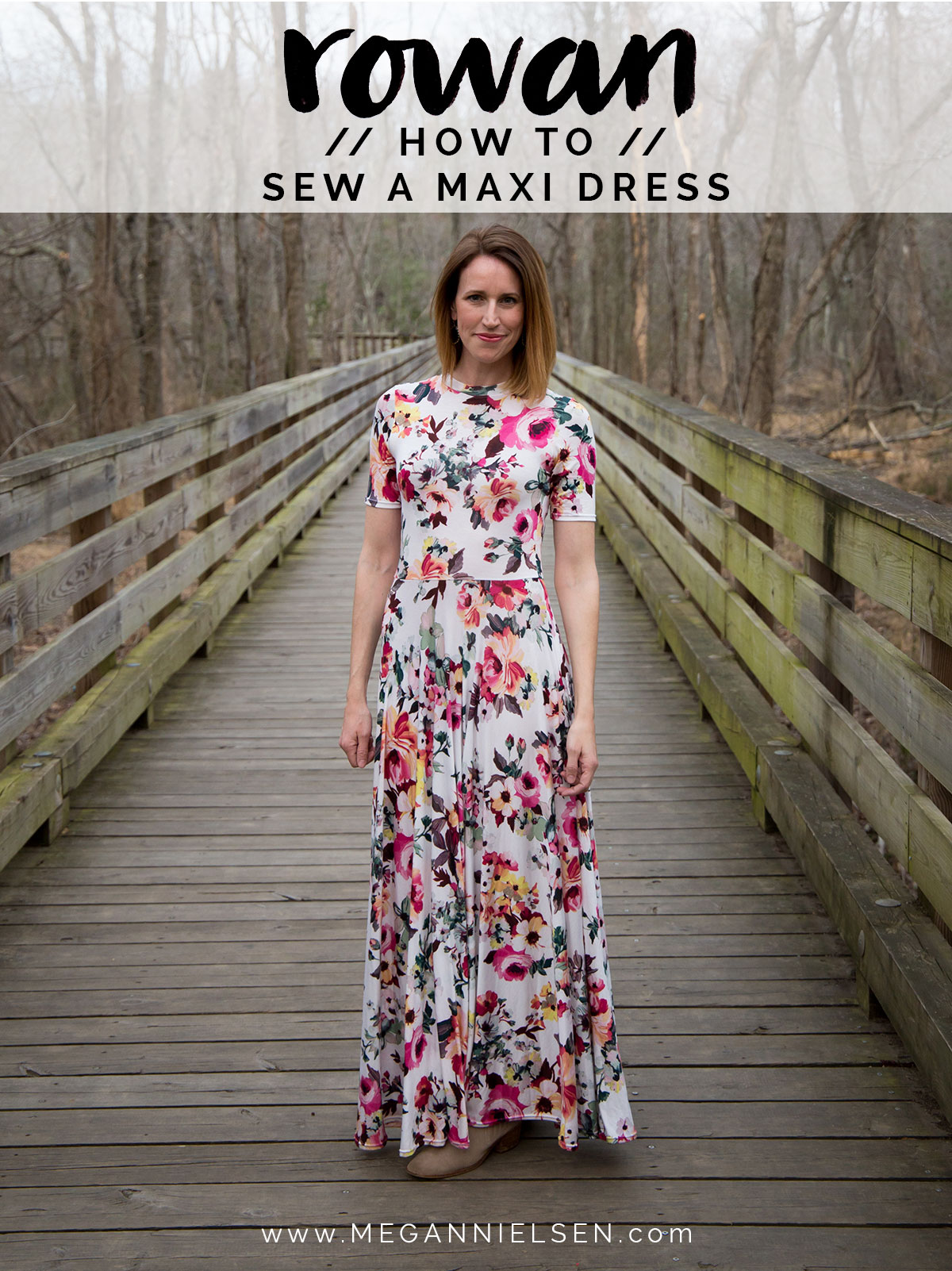 How To Sew A Knit Maxi Dress Using The Rowan Sewing