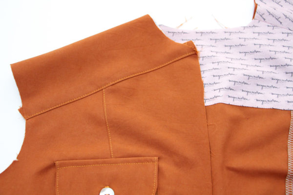 How to sew yokes with completely enclosed seams // Matilda dress tutorial on Megan Nielsen Design Diary
