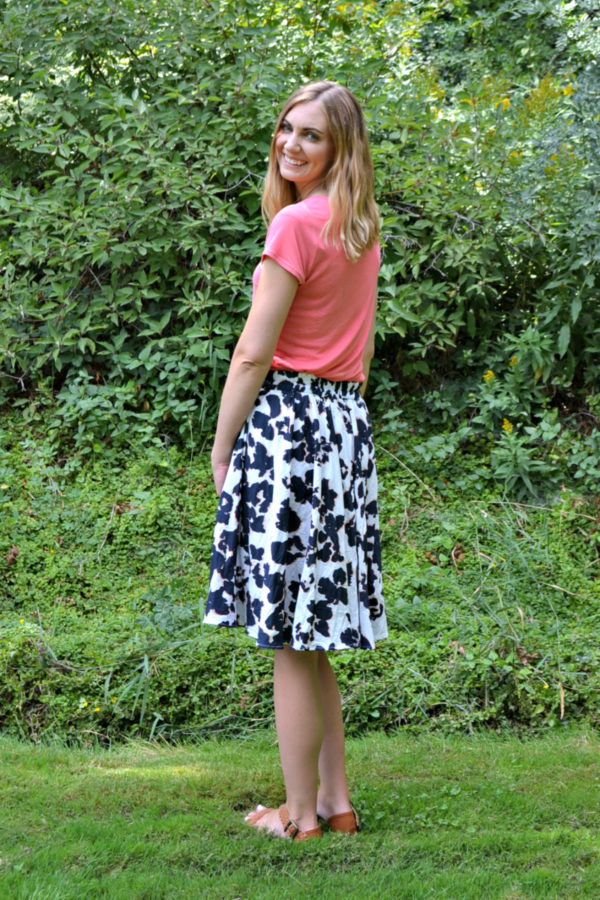 Elastic Waist Back + Side Seam Pockets // A Tania Culottes Tutorial