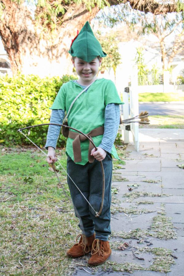 Buddy's Robin Hood costume for Book Week // Megan Nielsen Design Diary