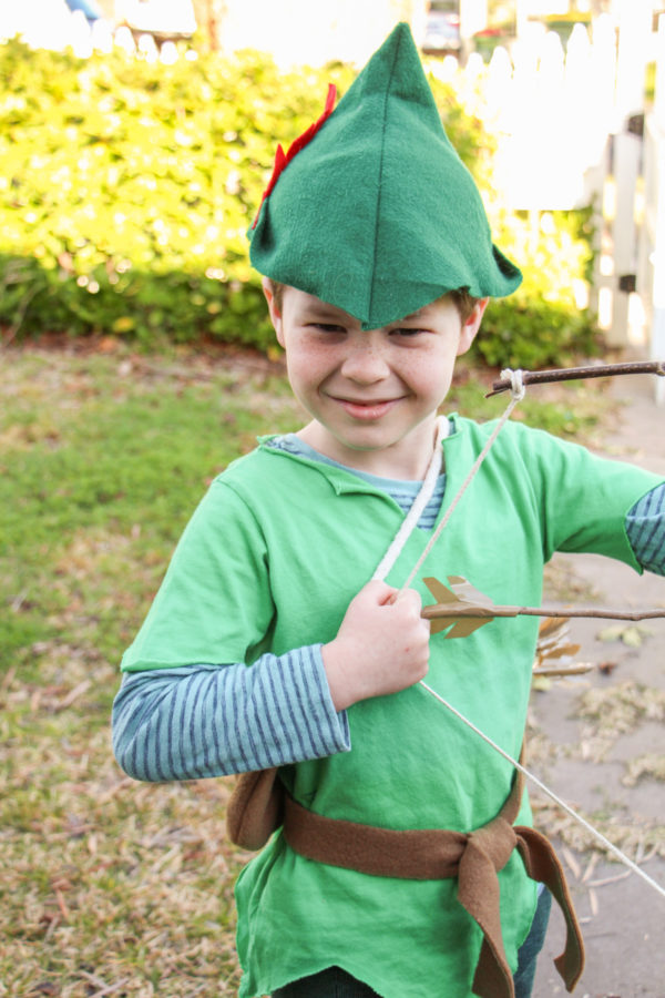 Buddy's Robin Hood costume for Book Week // Megan Nielsen Design Diary
