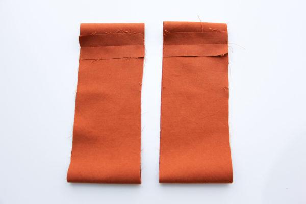How to sew sleeve bands and hem the skirt // Matilda dress tutorial on Megan Nielsen Design Diary
