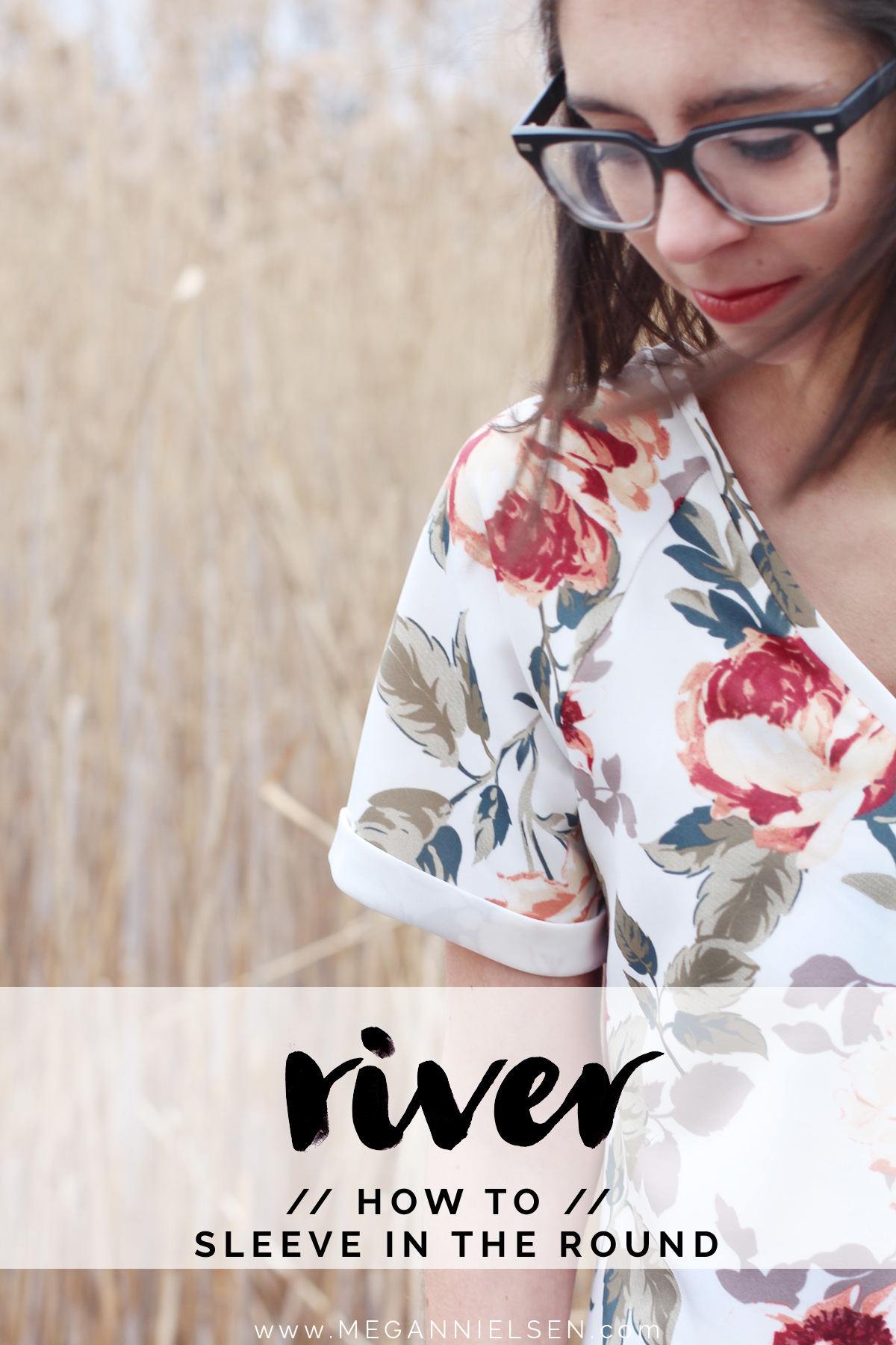 raglan sleeve in the round on the River pattern // tutorial on Megan Nielsen Design Diary