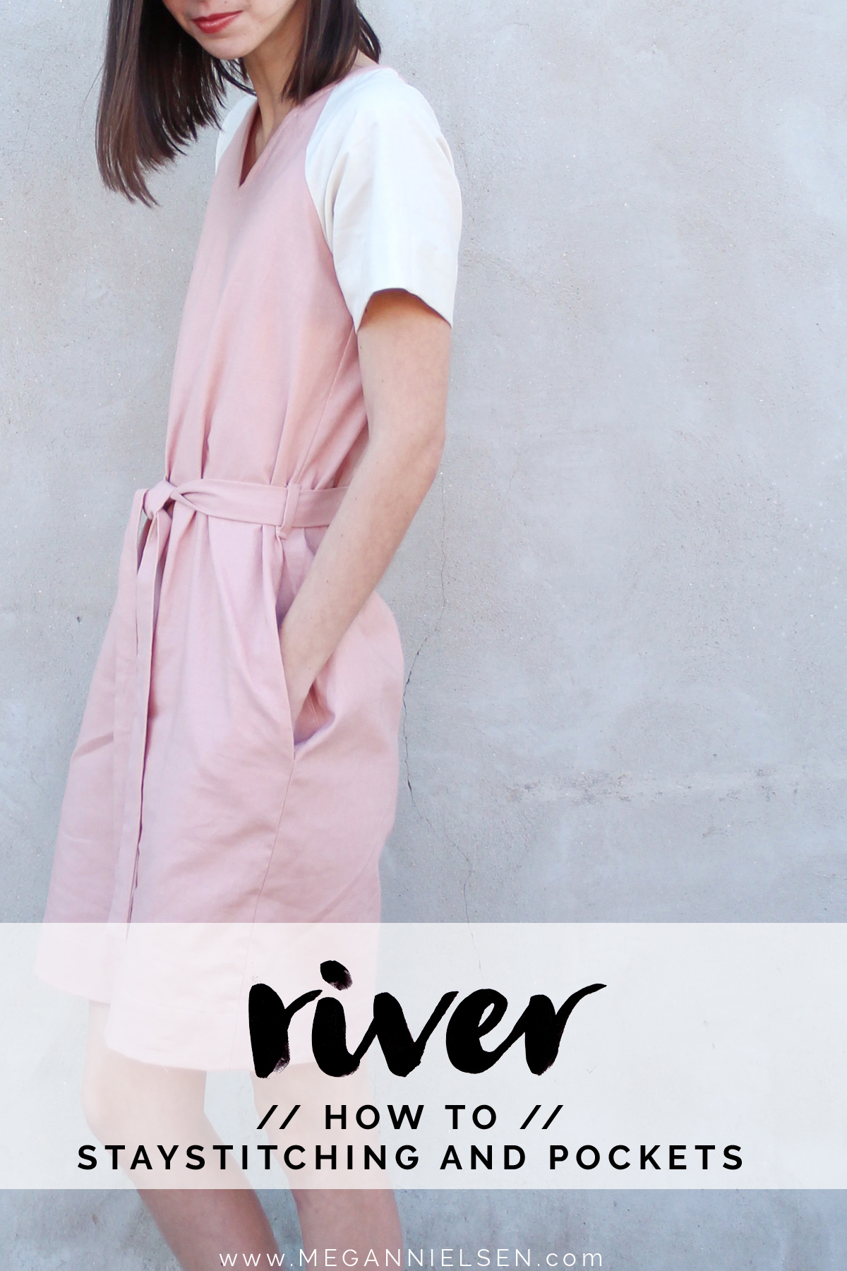 how to staystitch and sew the pockets of River pattern // tutorial on Megan Nielsen Design Diary