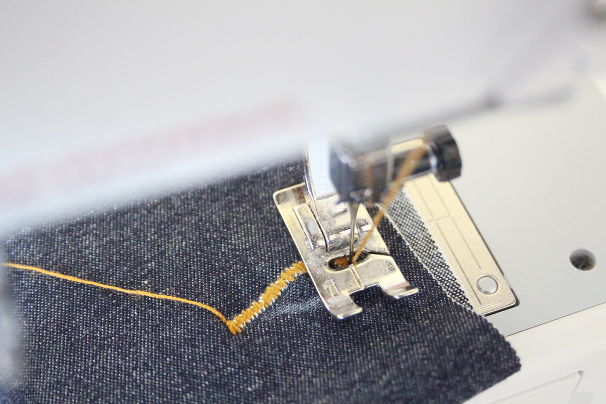 how to sew the buttonhole and hem on the Ash jeans pattern // tutorial on Megan Nielsen Design Diary
