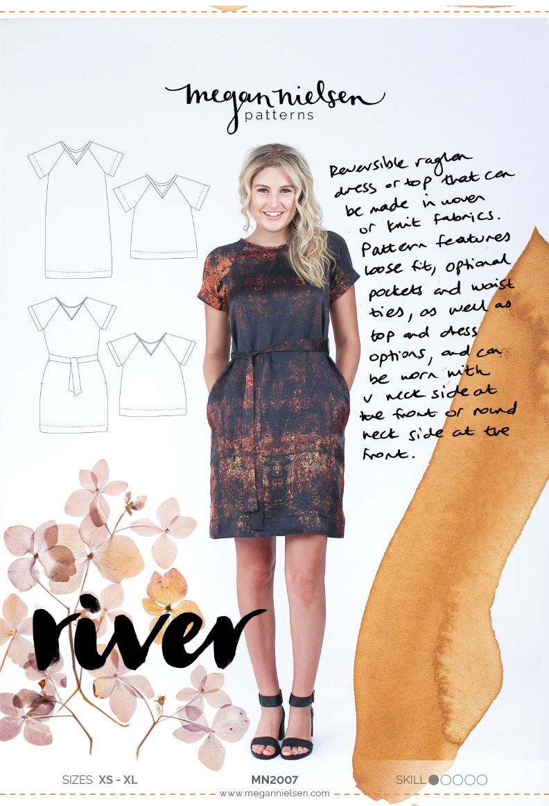 River dress and top by Megan Nielsen Patterns