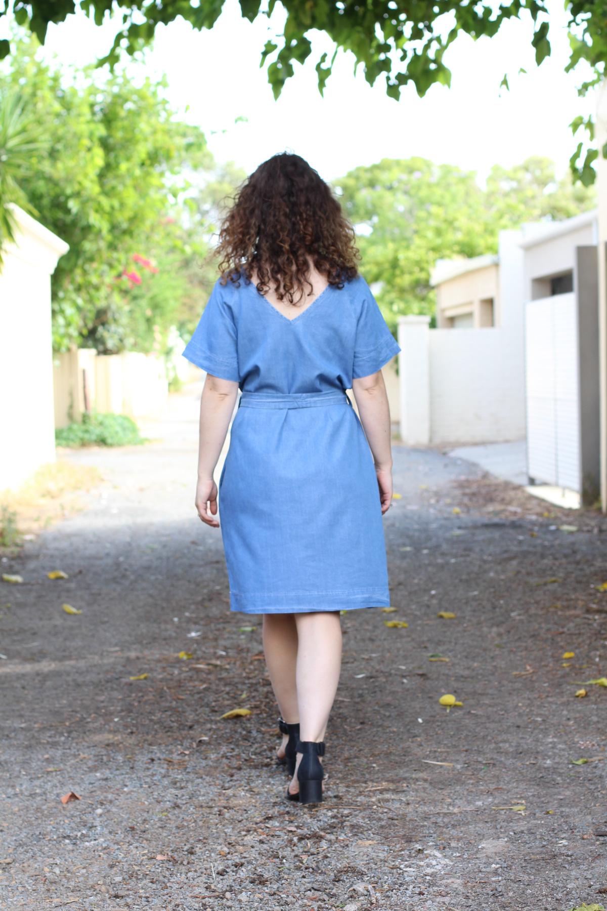 Megan Nielsen River dress from Spotlight tencel fabric // Megan Nielsen Design Diary