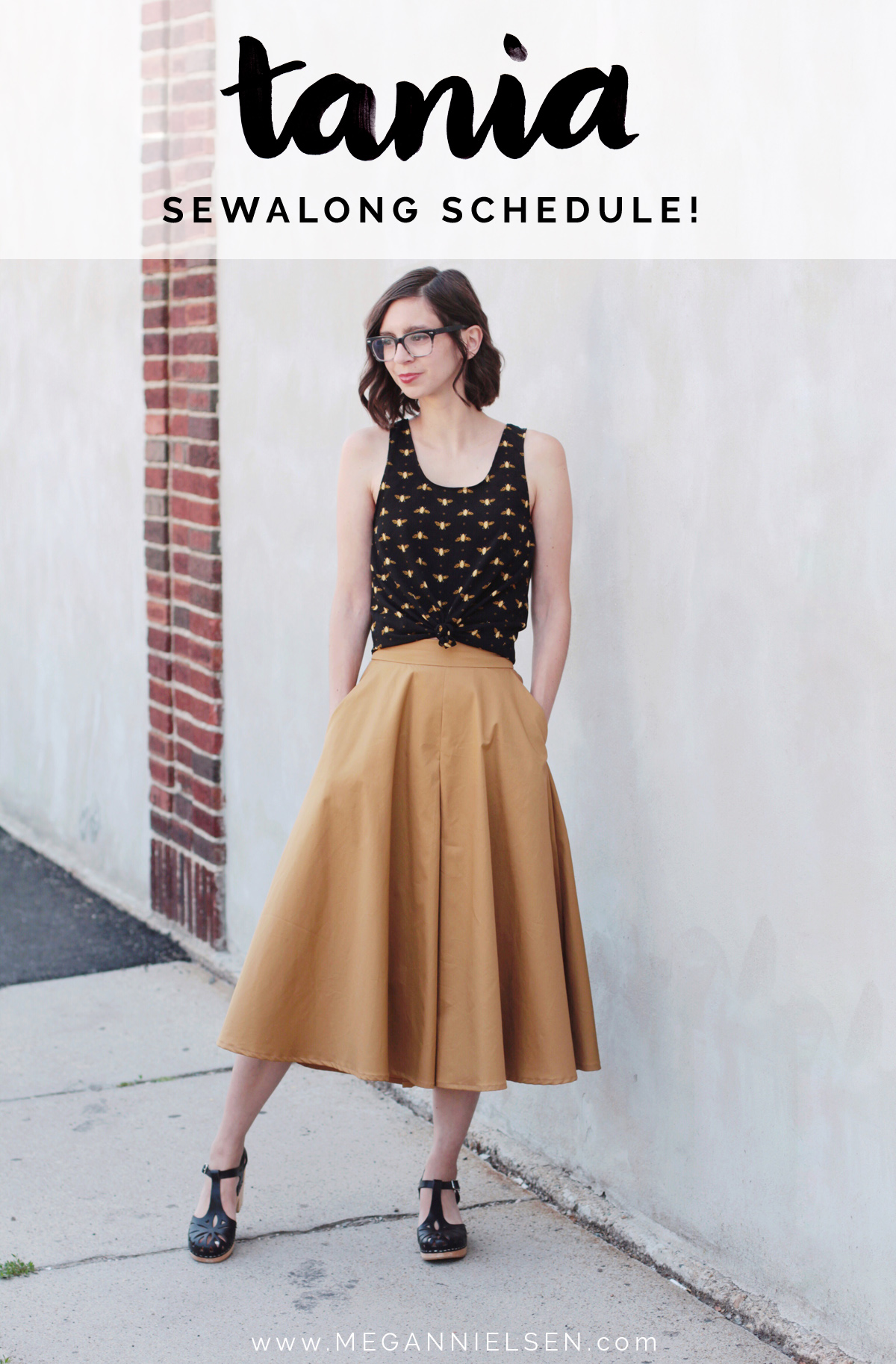 Tania Culottes sewalong schedule by Megan Nielsen Patterns