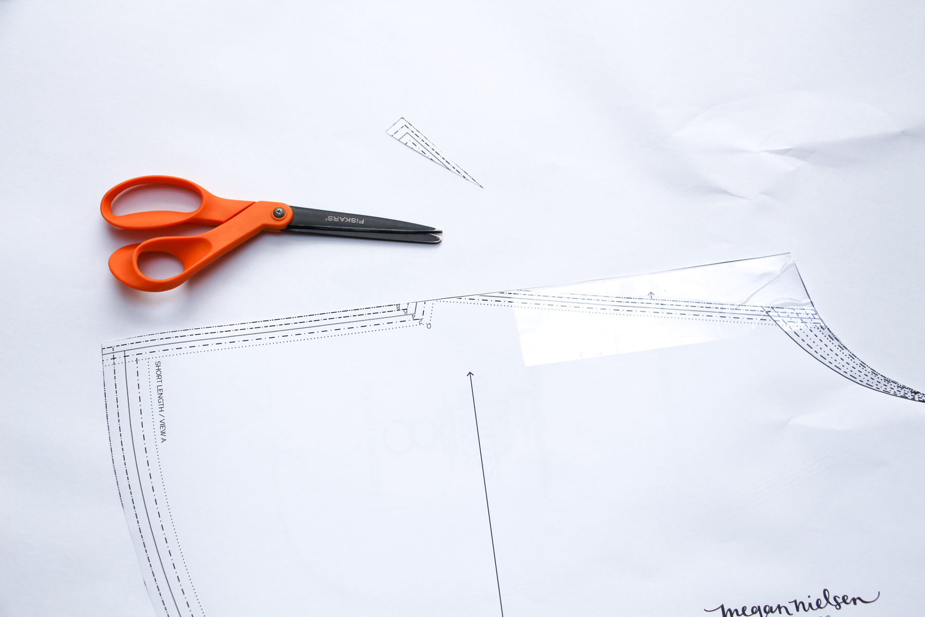 How to remove the pockets from the new version of the Tania Culottes by Megan Nielsen Patterns