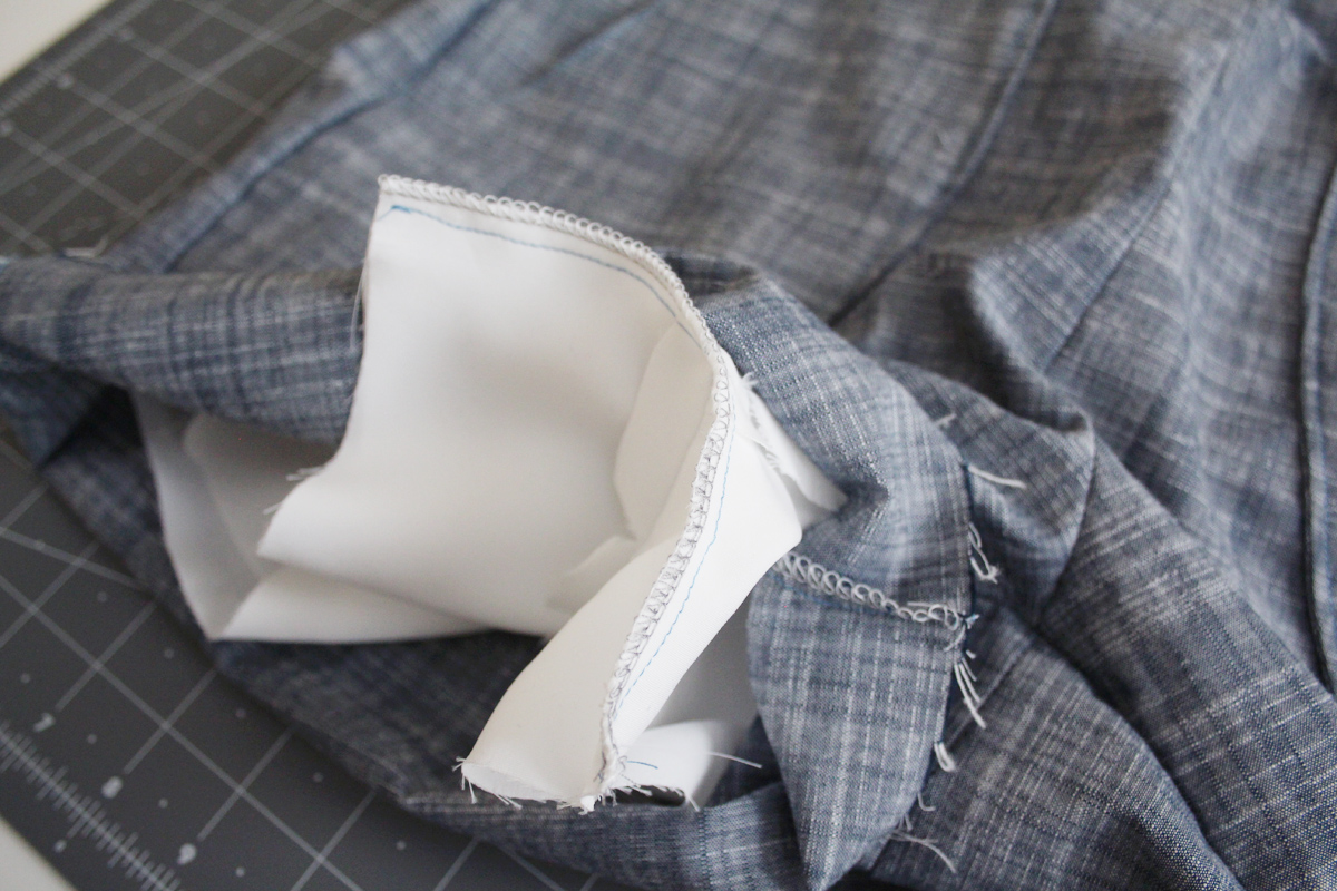 How to attach the lining of the Harper shorts and skort by Megan Nielsen Patterns