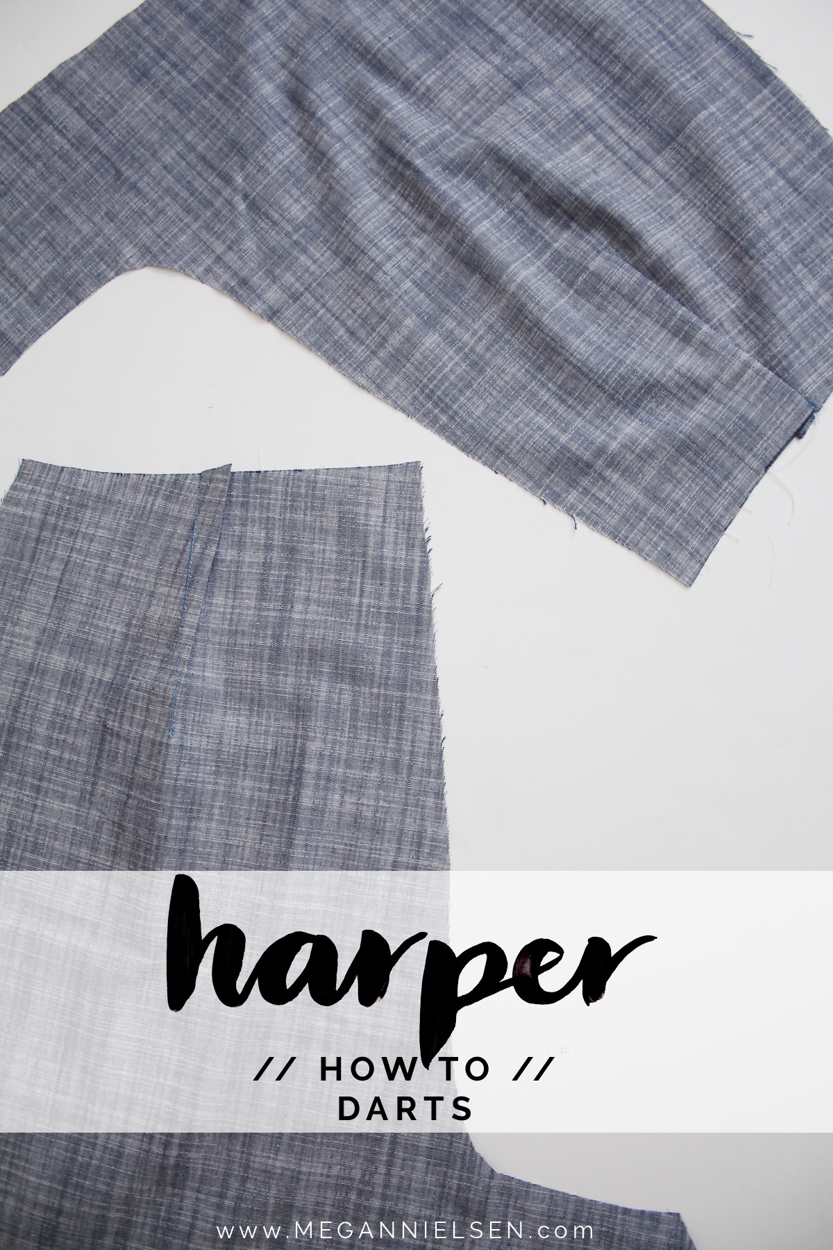 How to sew the darts on the Harper shorts and skort by Megan Nielsen Patterns