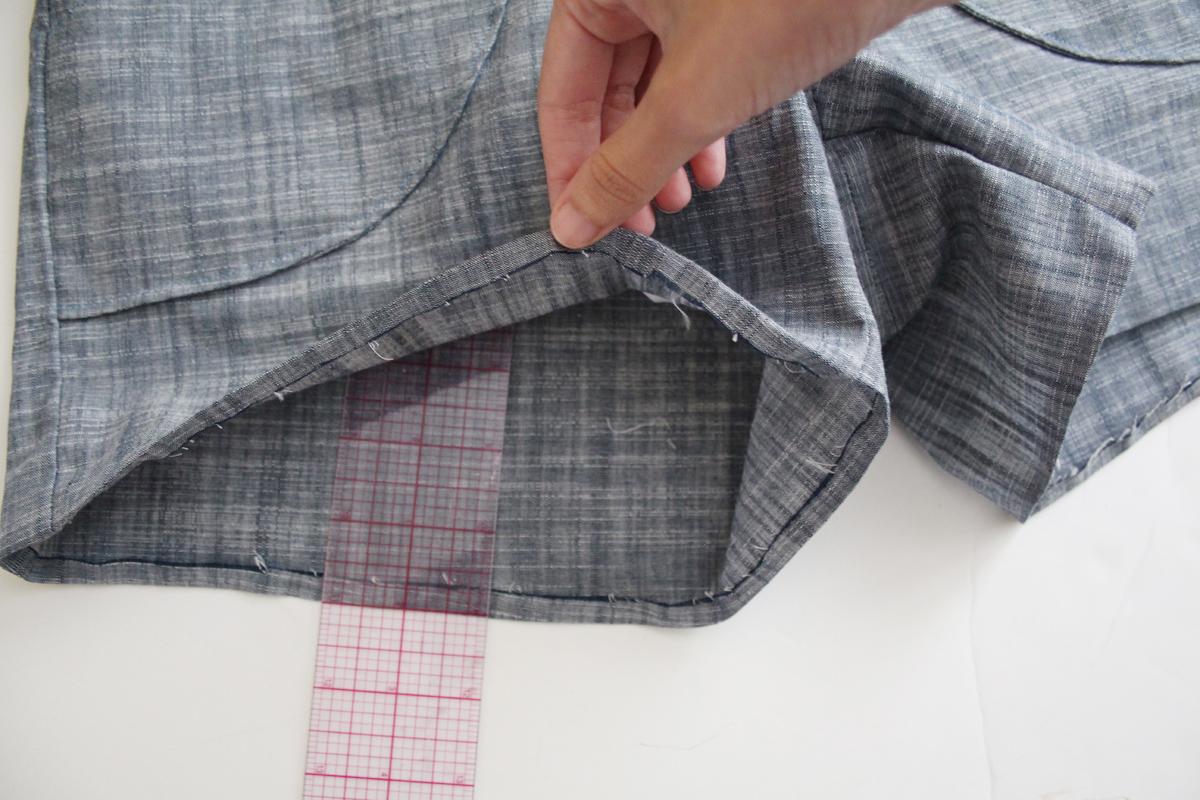 How to hem the Harper shorts and skort by Megan Nielsen Patterns
