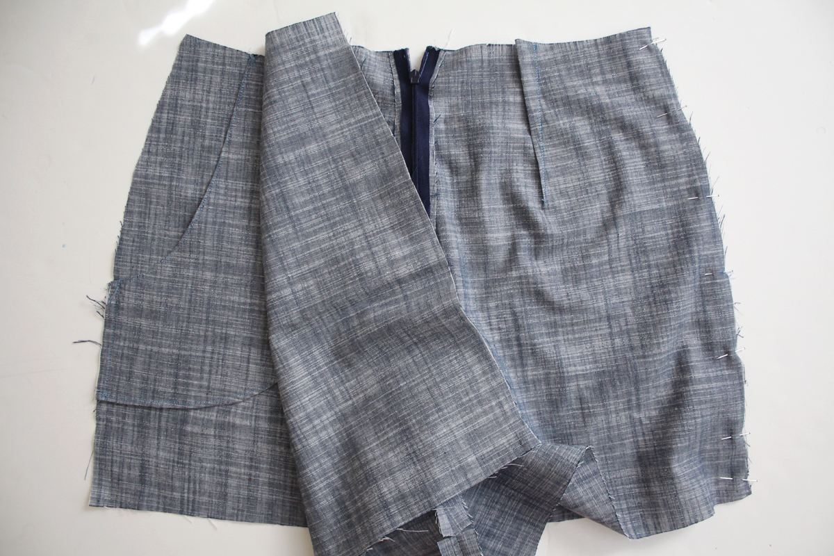 How to sew the side seams and inseam of the Harper shorts and skort by Megan Nielsen Patterns