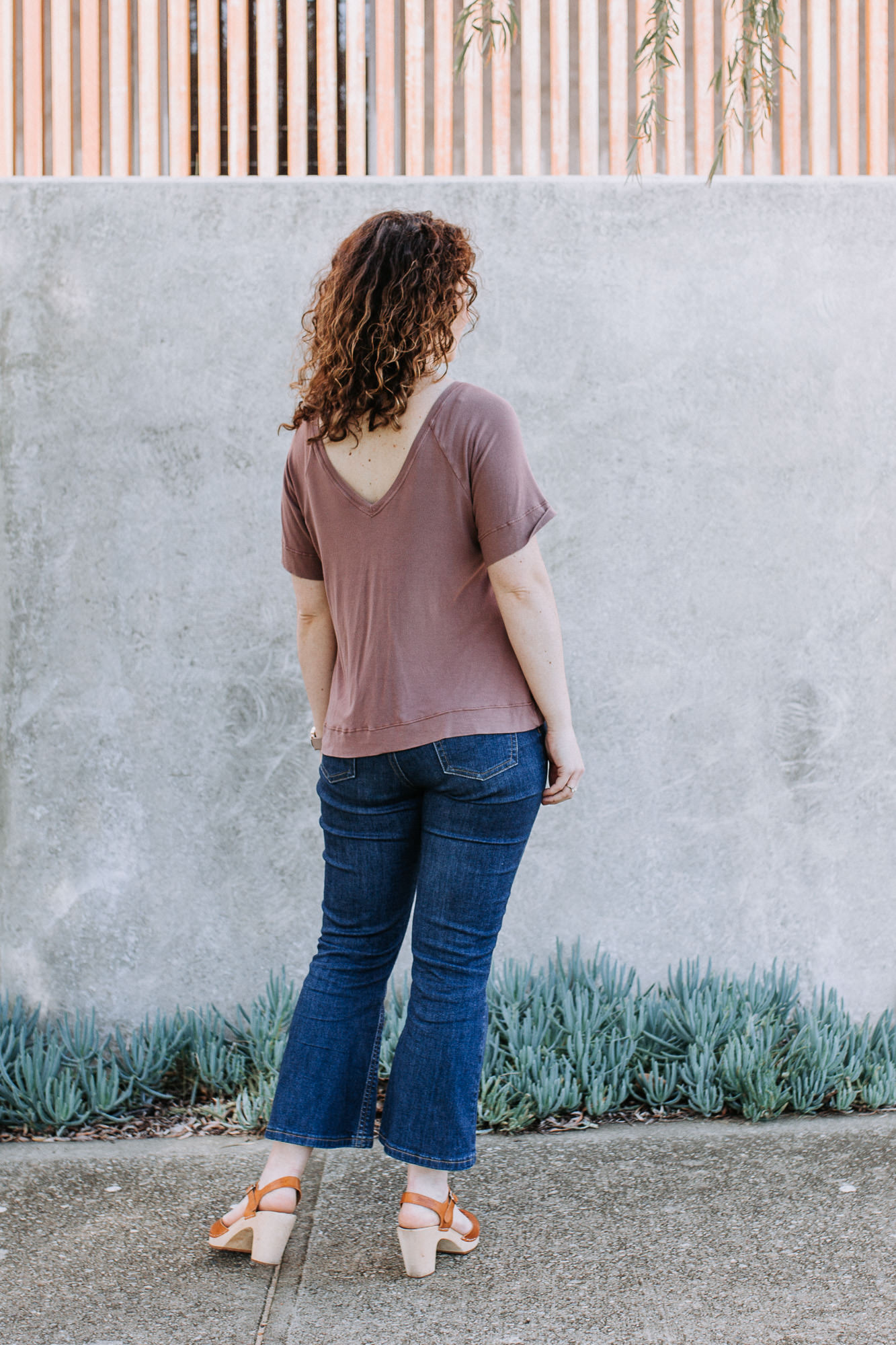 Megan Nielsen River top + Ash flare jeans // Design Diary