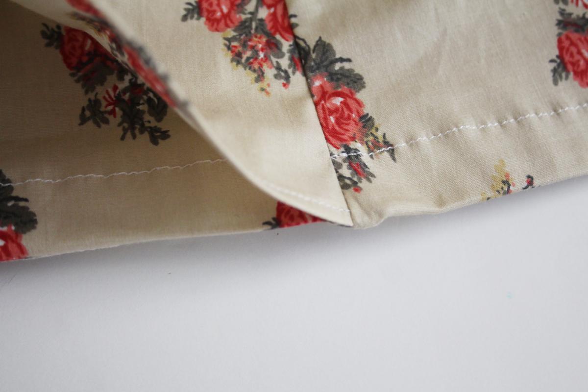 How to sew the hem of the skort version of the Harper shorts Megan Nielsen Patterns