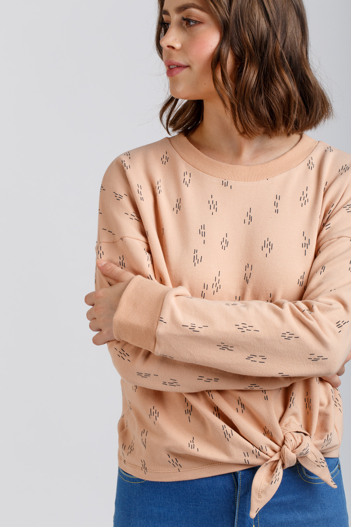 Megan Nielsen Jarrah sweater sewing pattern // modular pattern with four included variations