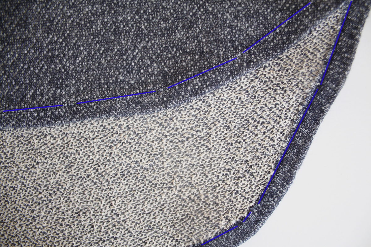How to sew the split sleeves and curved hem on the Jarrah sweater by Megan Nielsen Patterns