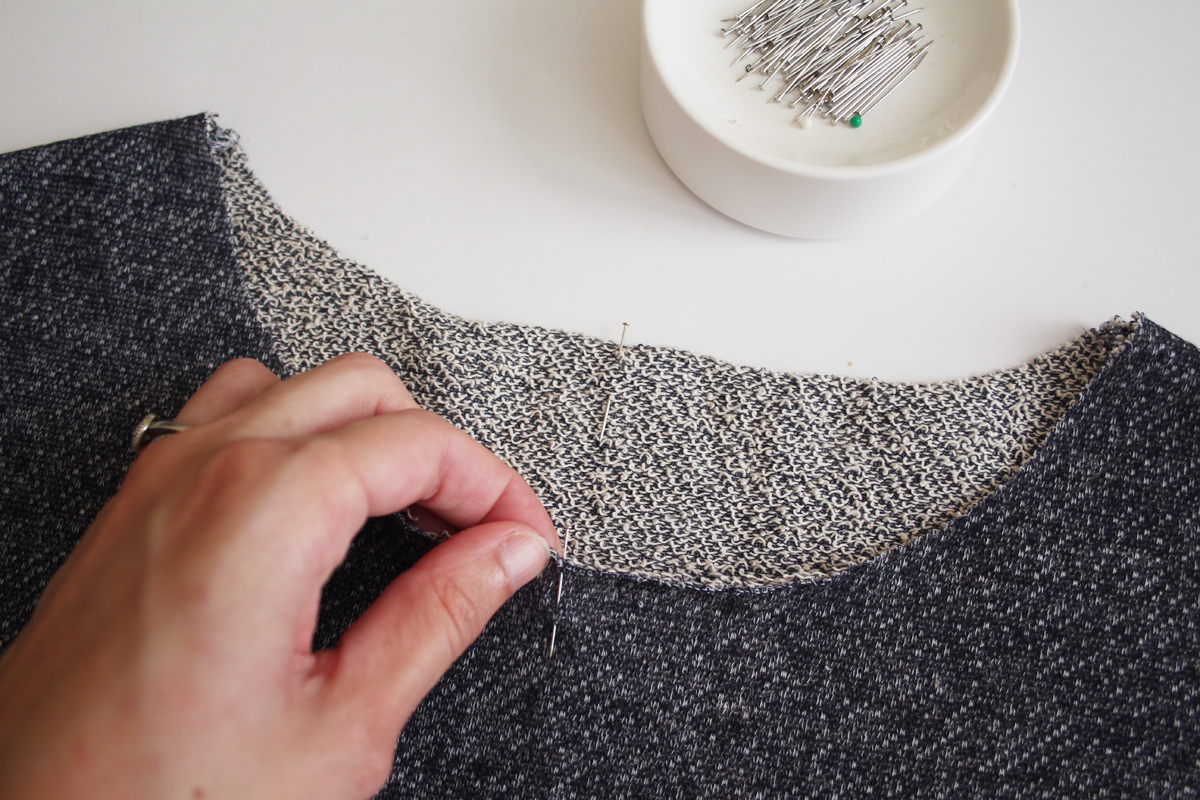 How to sew the funnel neck on the Jarrah sweater by Megan Nielsen Patterns