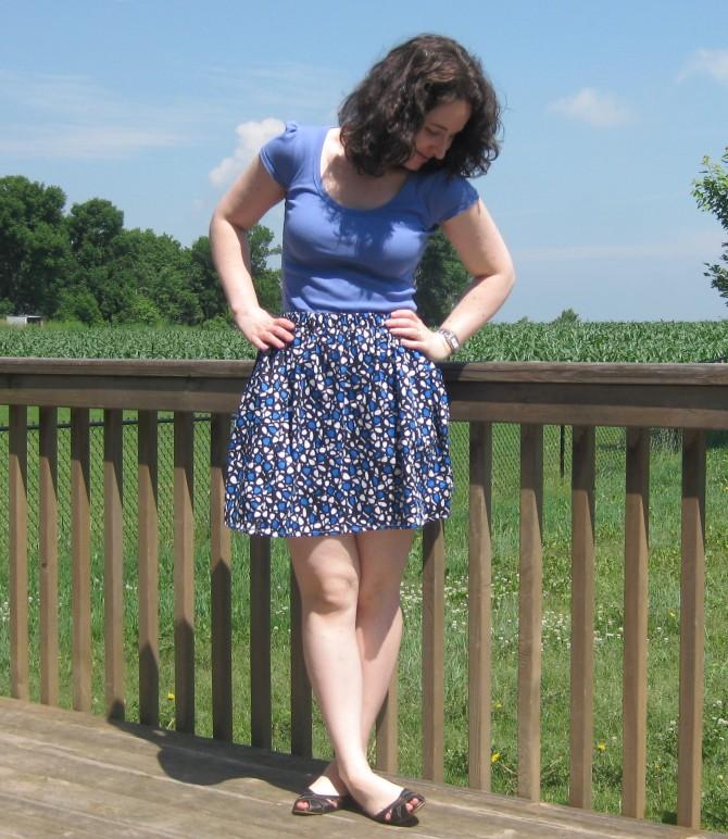Elastic waistband skirt 2