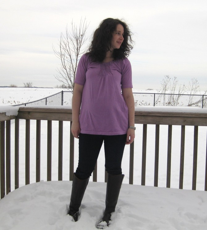 tshirt to maternity tunic after 3