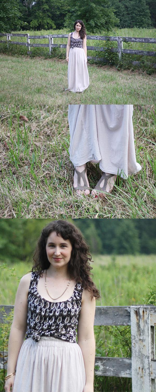 How to make a jersey maxi skirt // @megan_nielsen