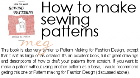 Recommended Reading Advanced Sewing Pattern Drafting Megan Gorgeous How To Make Sewing Patterns