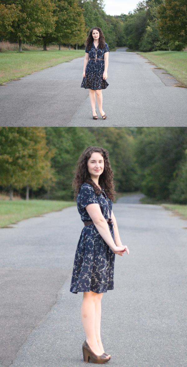 Alternative method for shortening a long dress