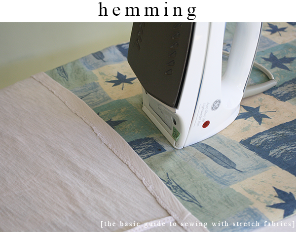 Hemming stretch fabrics