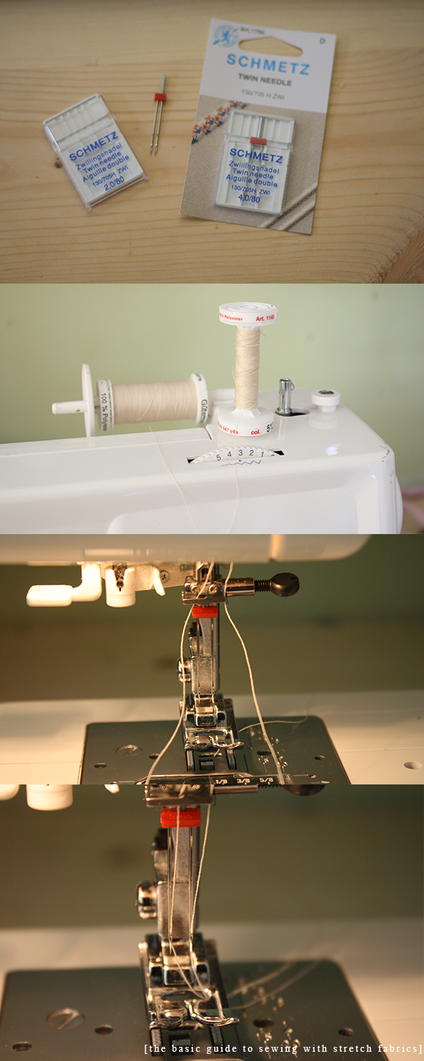 Setting up a twin needle on a sewing machine