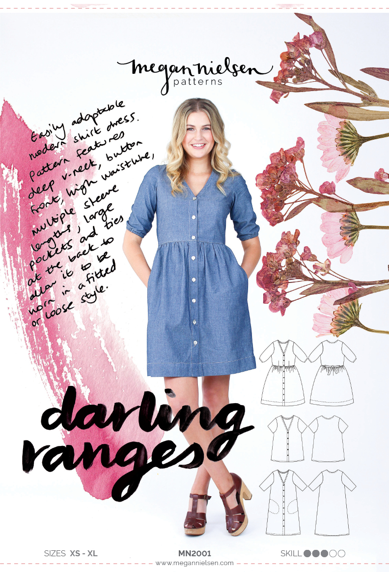 Megan Nielsen Darling Ranges sewing pattern