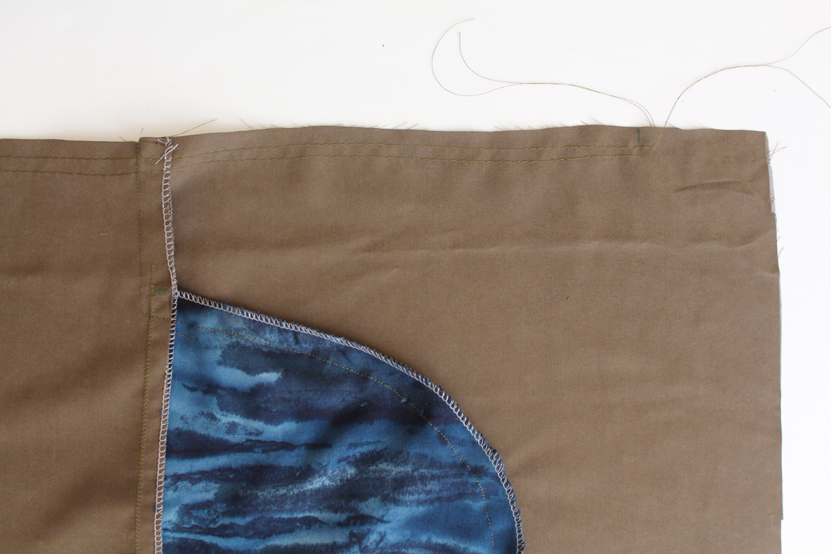 how to do attach the skirt to the bodice on the Darling Ranges pattern // tutorial on Megan Nielsen Design Diary
