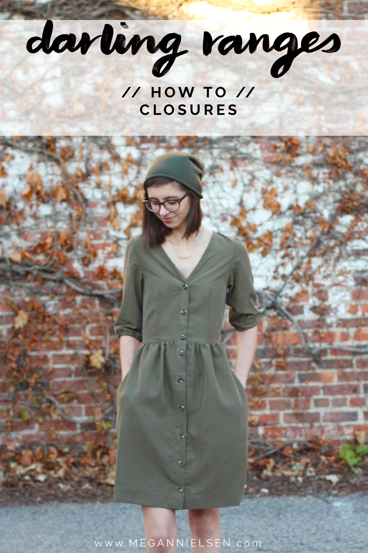 how to do closures on the Darling Ranges pattern // tutorial on Megan Nielsen Design Diary