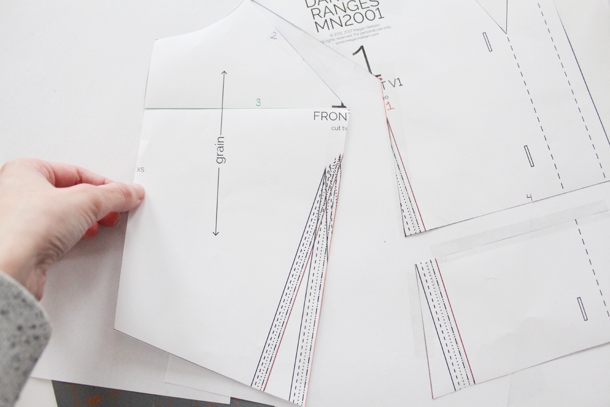 how to do a full bust adjustments on the Darling Ranges pattern // tutorial on Megan Nielsen Design Diary