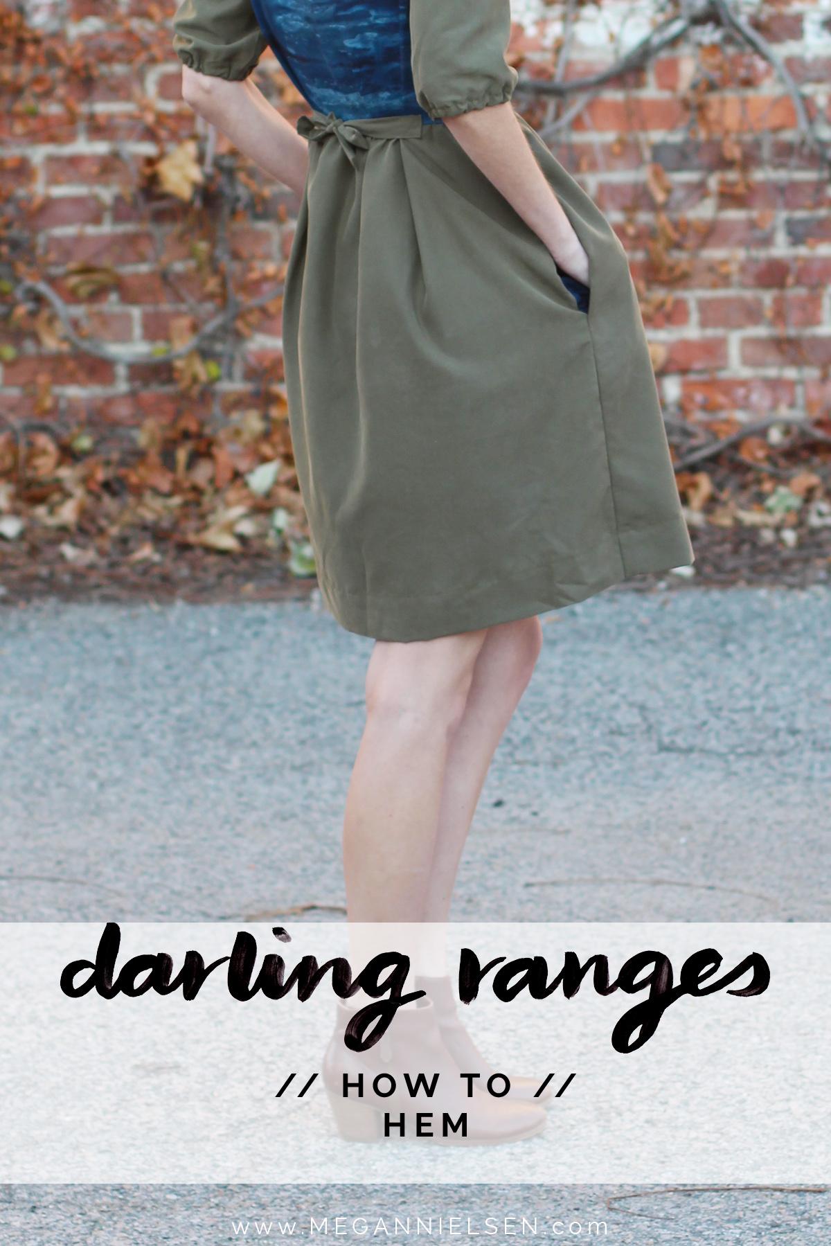 how to hem the Darling Ranges pattern // tutorial on Megan Nielsen Design Diary