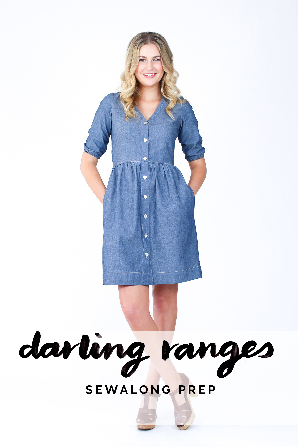 preparation for sewing the Darling Ranges dress and blouse // Megan Nielsen Design Diary