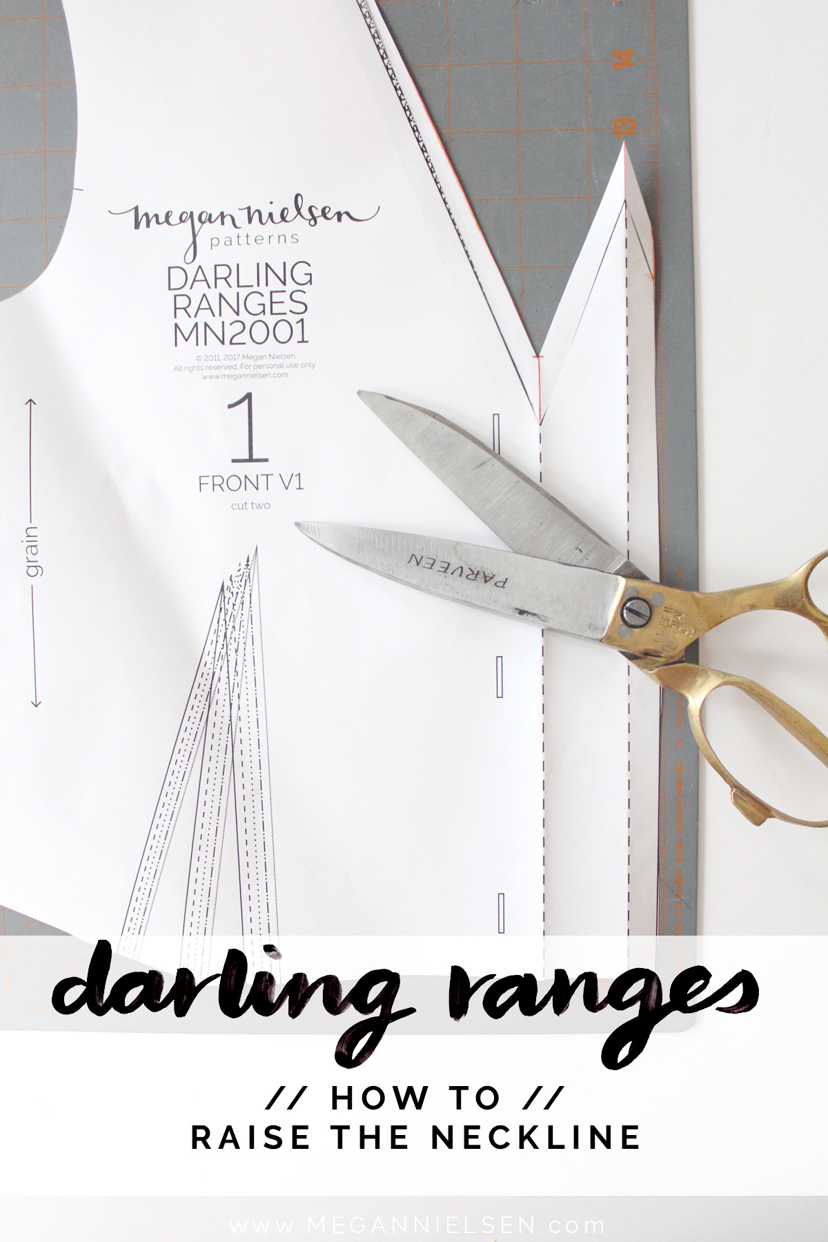 how to raise the neckline on the Darling Ranges pattern // tutorial on Megan Nielsen Design Diary