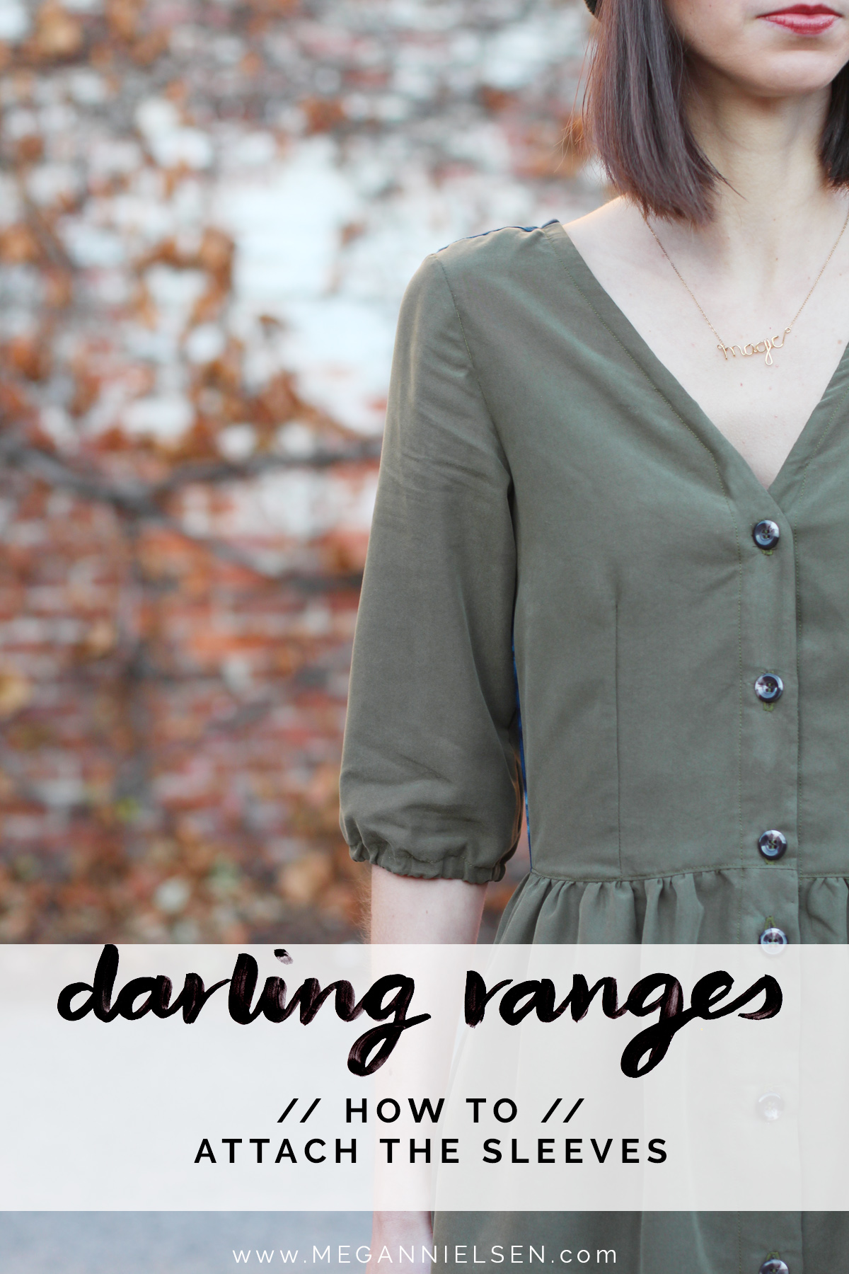 how to add the sleeves to the Darling Ranges pattern // tutorial on Megan Nielsen Design Diary
