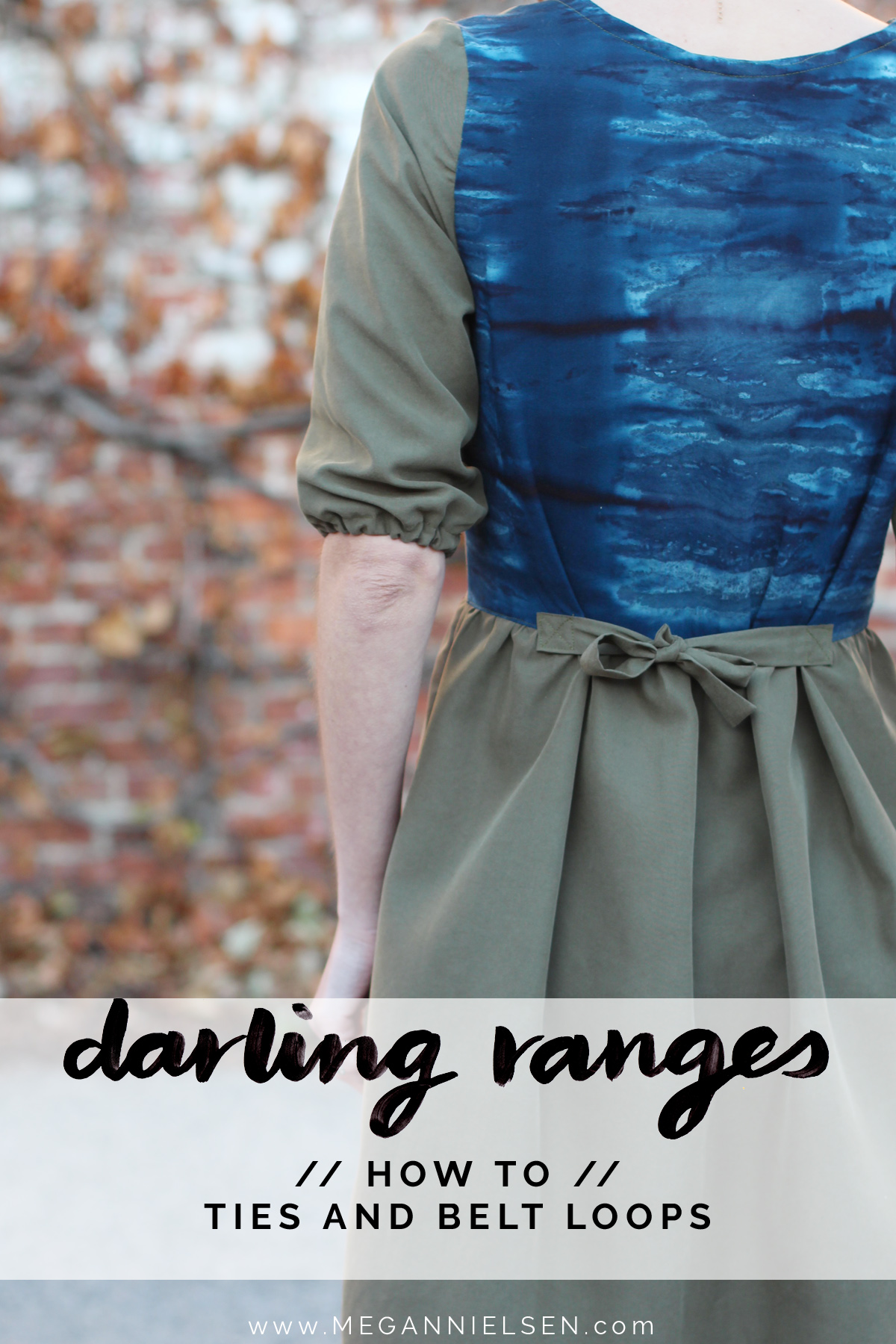 how to attach ties and belt loops on the Darling Ranges pattern // tutorial on Megan Nielsen Design Diary
