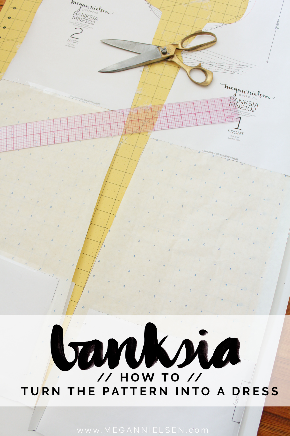 how to turn the Banksia Blouse into a dress // tutorial on Megan Nielsen Design Diary
