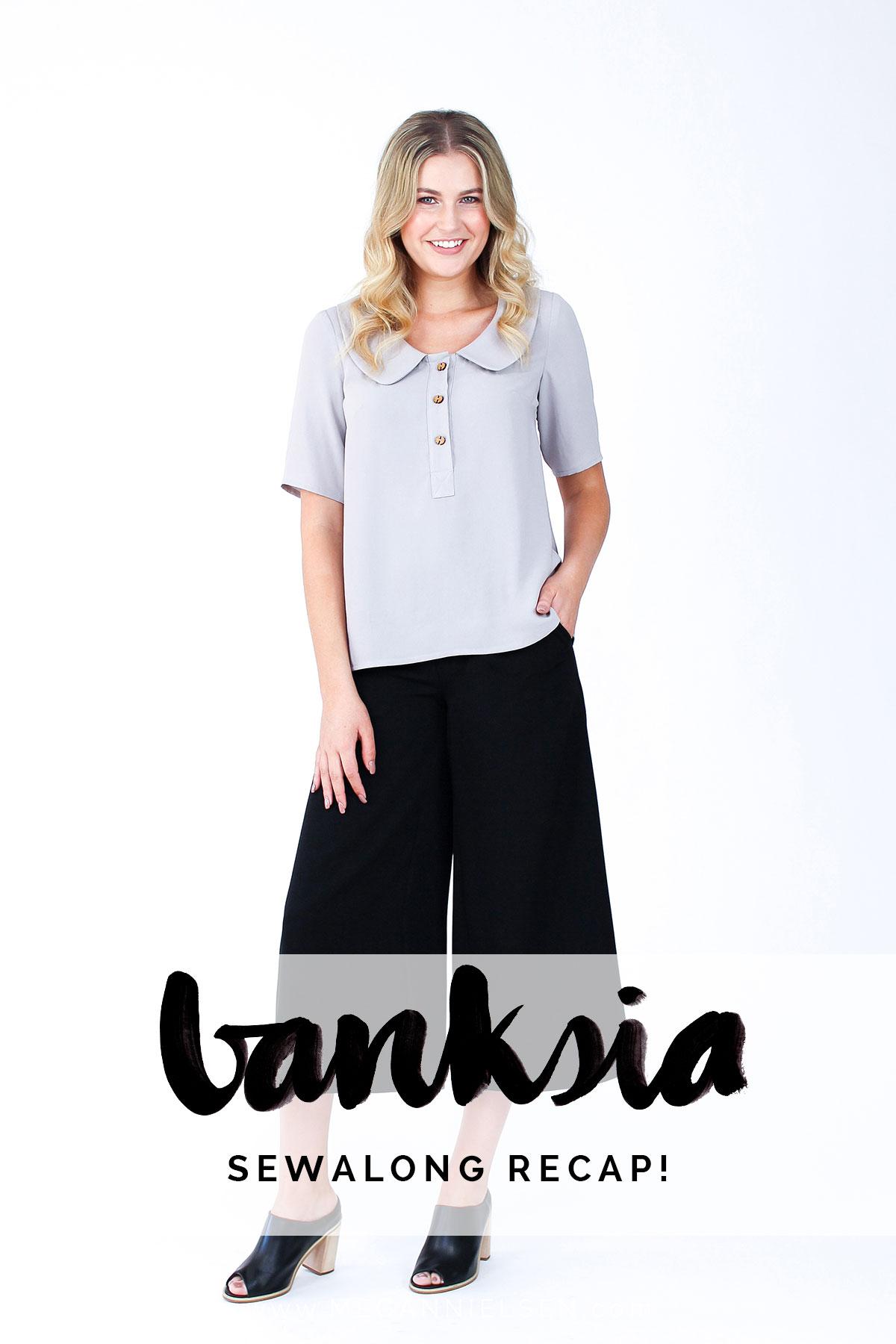 Banksia blouse sewalong recap! // Megan Nielsen Design Diary