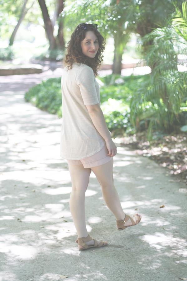 Megan Nielsen Briar tshirt with elbow length sleeves