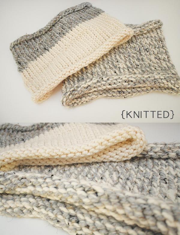 Megan Nielsen knitted tube scarves