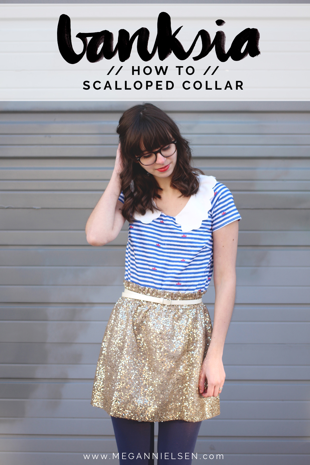how to do a scalloped collar on the Banksia Blouse // tutorial on Megan Nielsen Design Diary