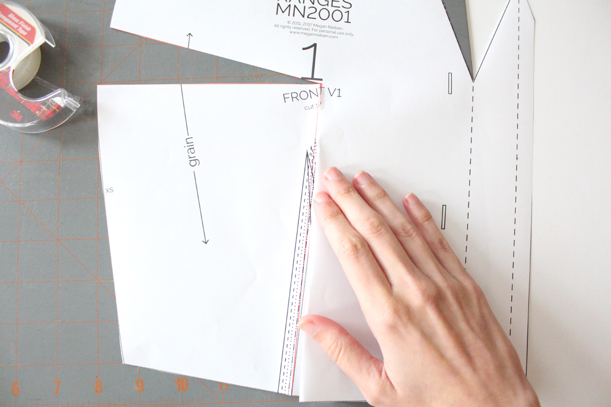 how to do manipulate the dart on the Darling Ranges pattern // tutorial on Megan Nielsen Design Diary
