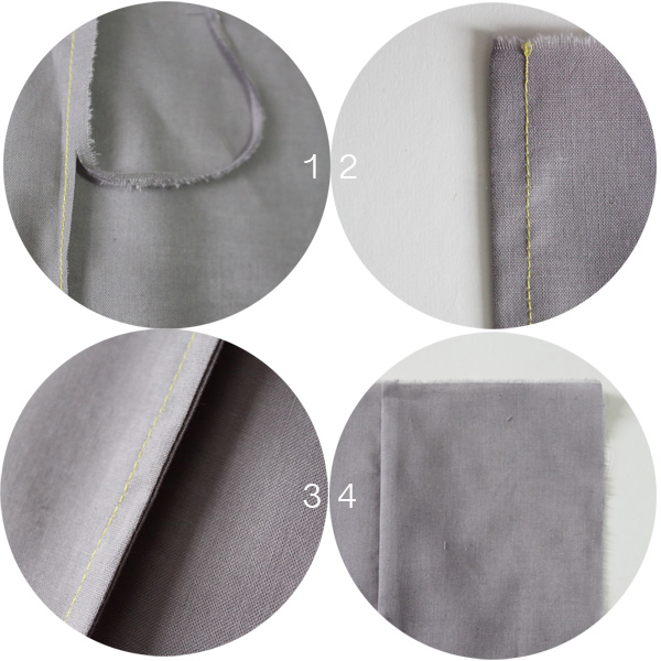 Step by step instructions to create a French seam