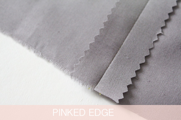 Pinked edge for seams