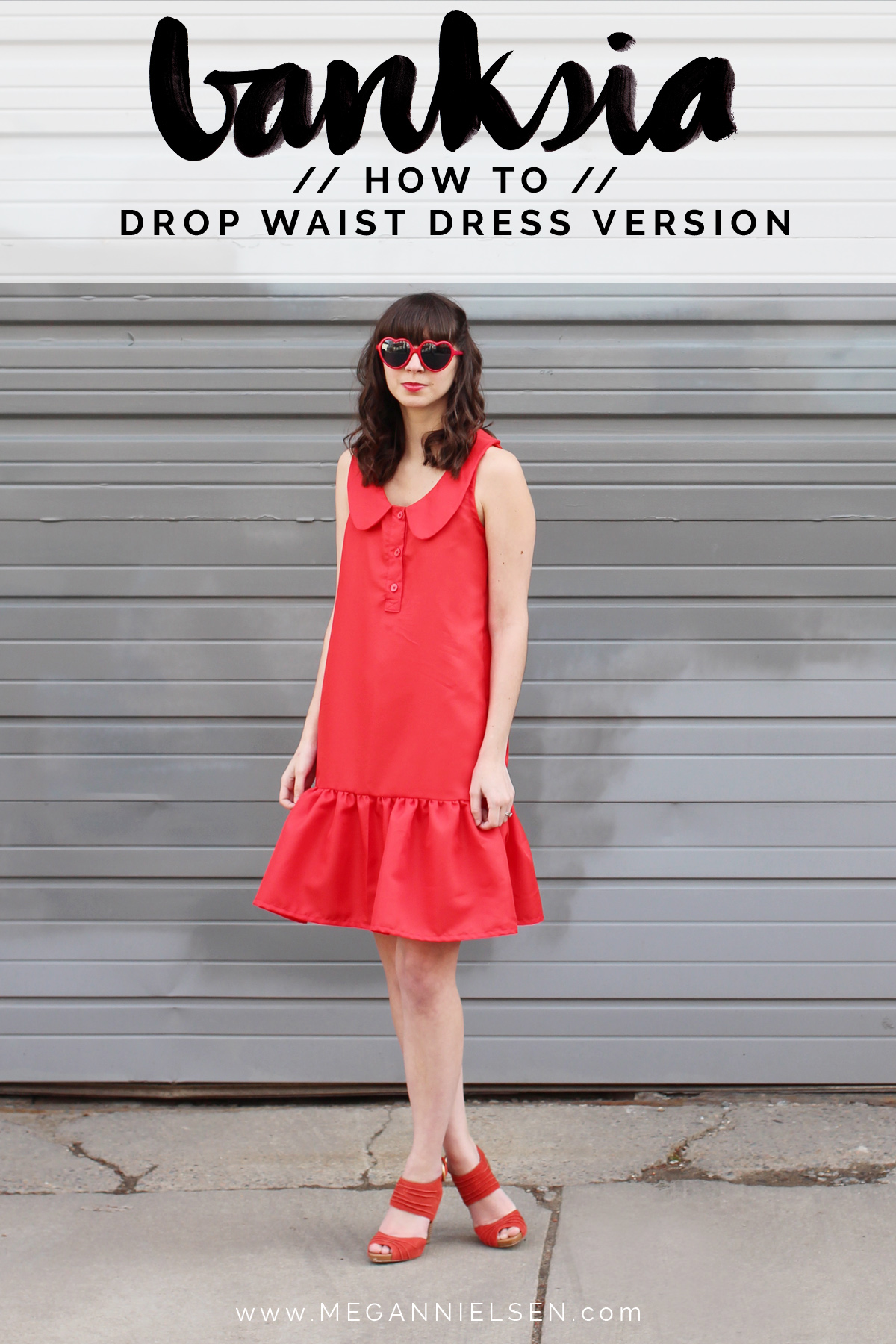 how to make a drop waist dress from the Banksia Blouse // tutorial on Megan Nielsen Design Diary