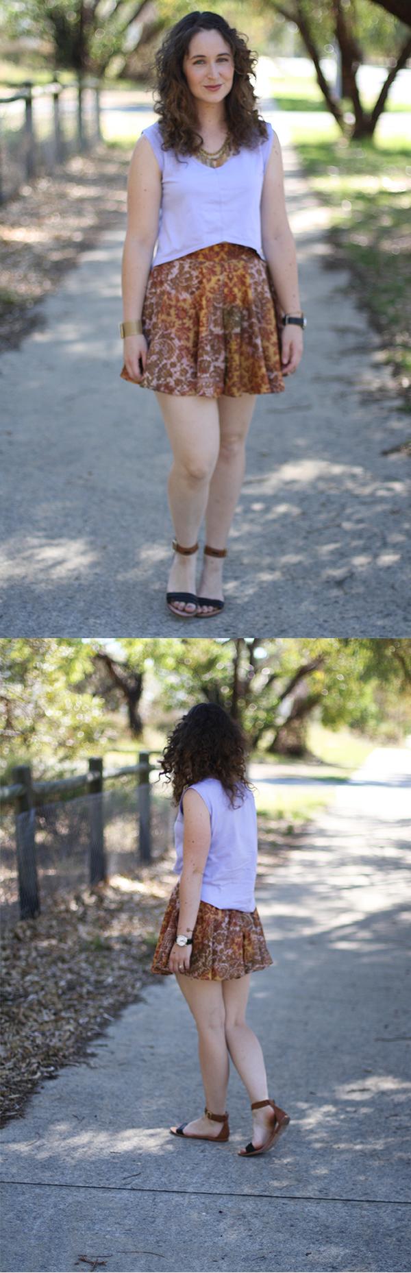 Megan Nielsen Tania culottes + Briar crop top
