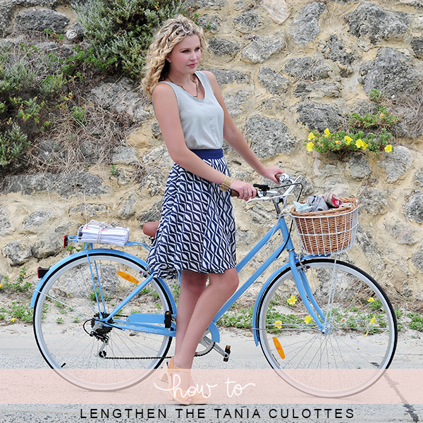 How to lengthen the Tania culottes