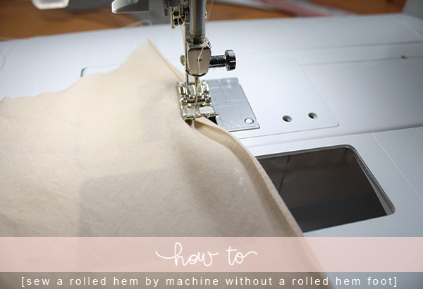 40 Ways To Sew A Rolled Hem Megan Nielsen Design Diary Enchanting How To Hem With A Sewing Machine